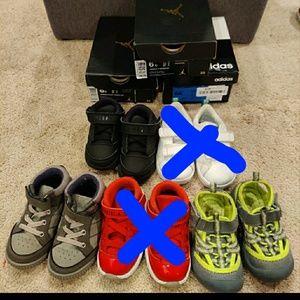 Bundle of toddler boys shoes-Size 6